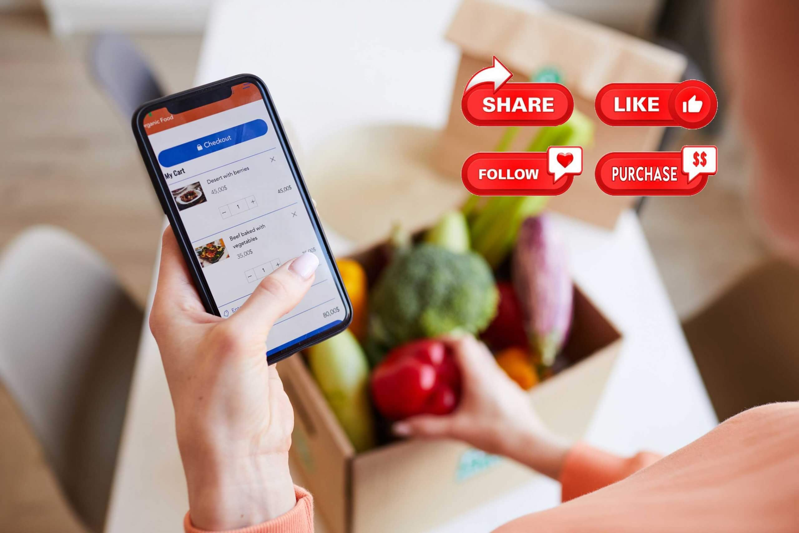 woman-ordering-food-online-social-commerce