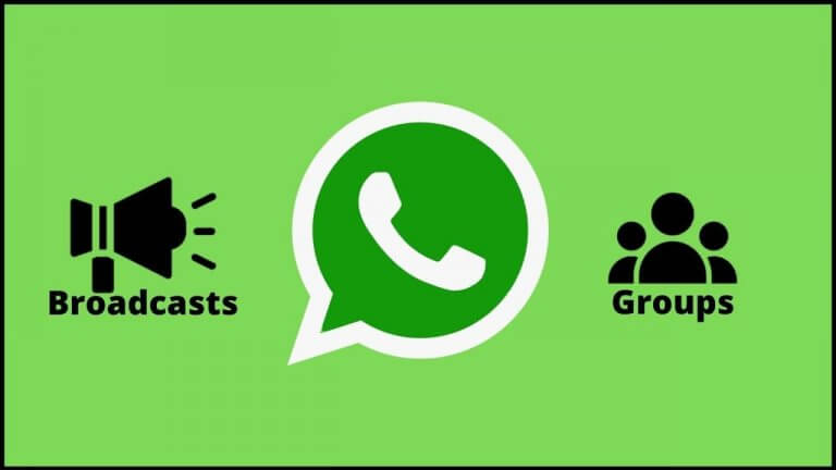 whatsapp broadcasts and groups