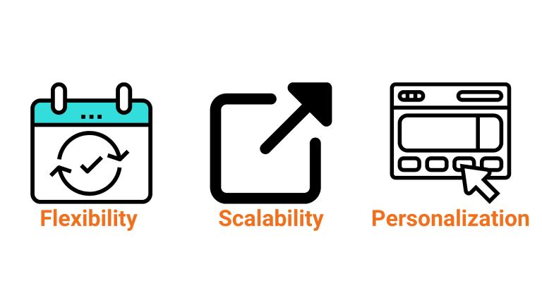 Flexibility, Scalability, Personalization