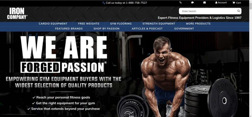 iron company site screenshot