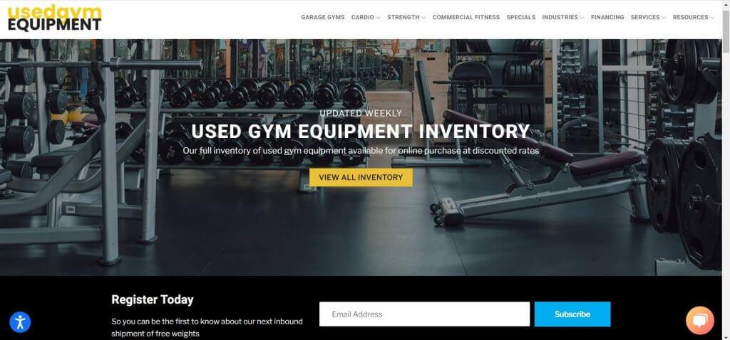 used gym equipment site screenshot
