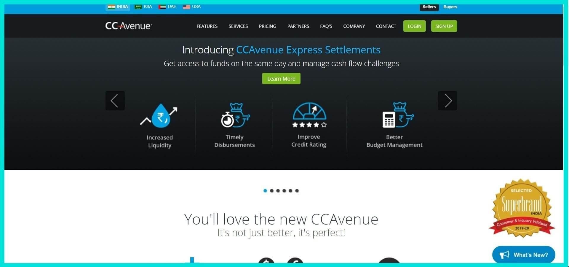 CC Avenue Site Screenshot