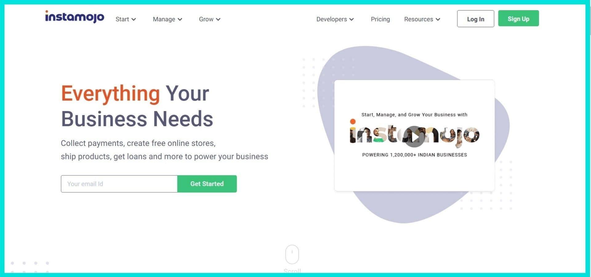 Instamojo Site Screenshot