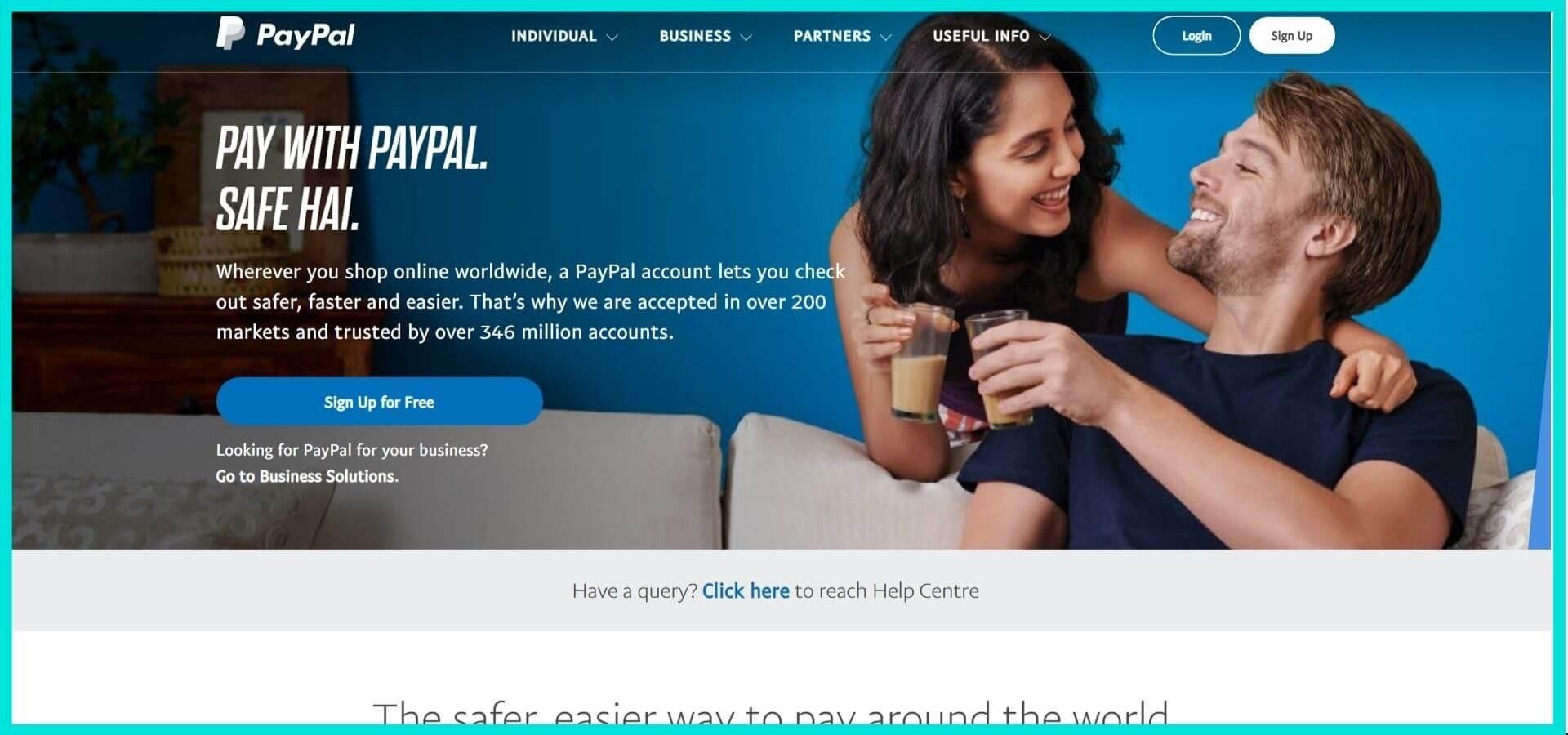 Paypal Site Screenshot